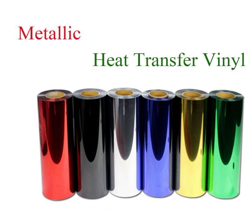 "Metallic Heat Transfer Vinyl 20"" Wide Easy Weed 16 colors to Garment"