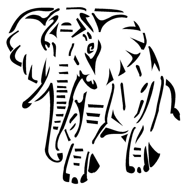 elephant Design Heat Transfer Vinyl ready to put on T-Shirt many colors