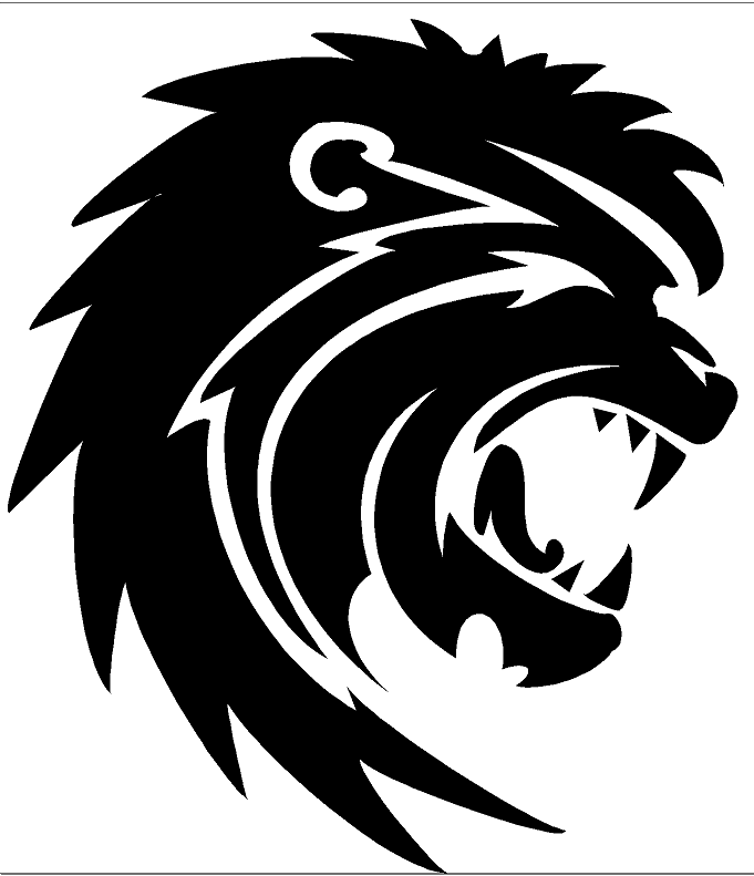 Lion Head Design Heat Transfer Vinyl ready to put on T-Shirt many colors