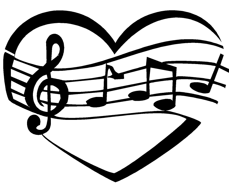 Music Heart Design Heat Transfer Vinyl ready to put on T-Shirt many colors