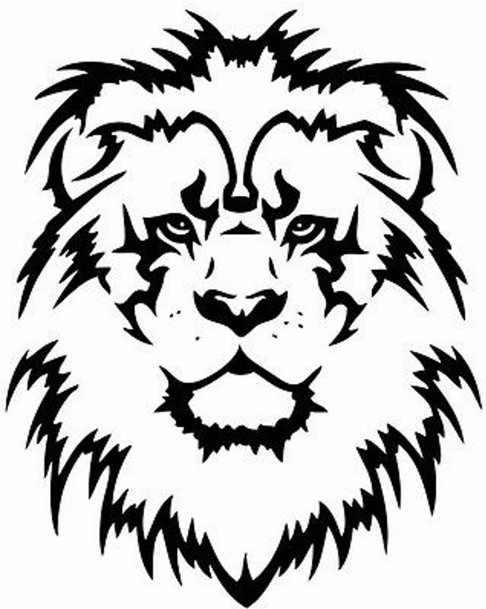 Lion Design Heat Transfer Vinyl ready to put on T-Shirt many colors
