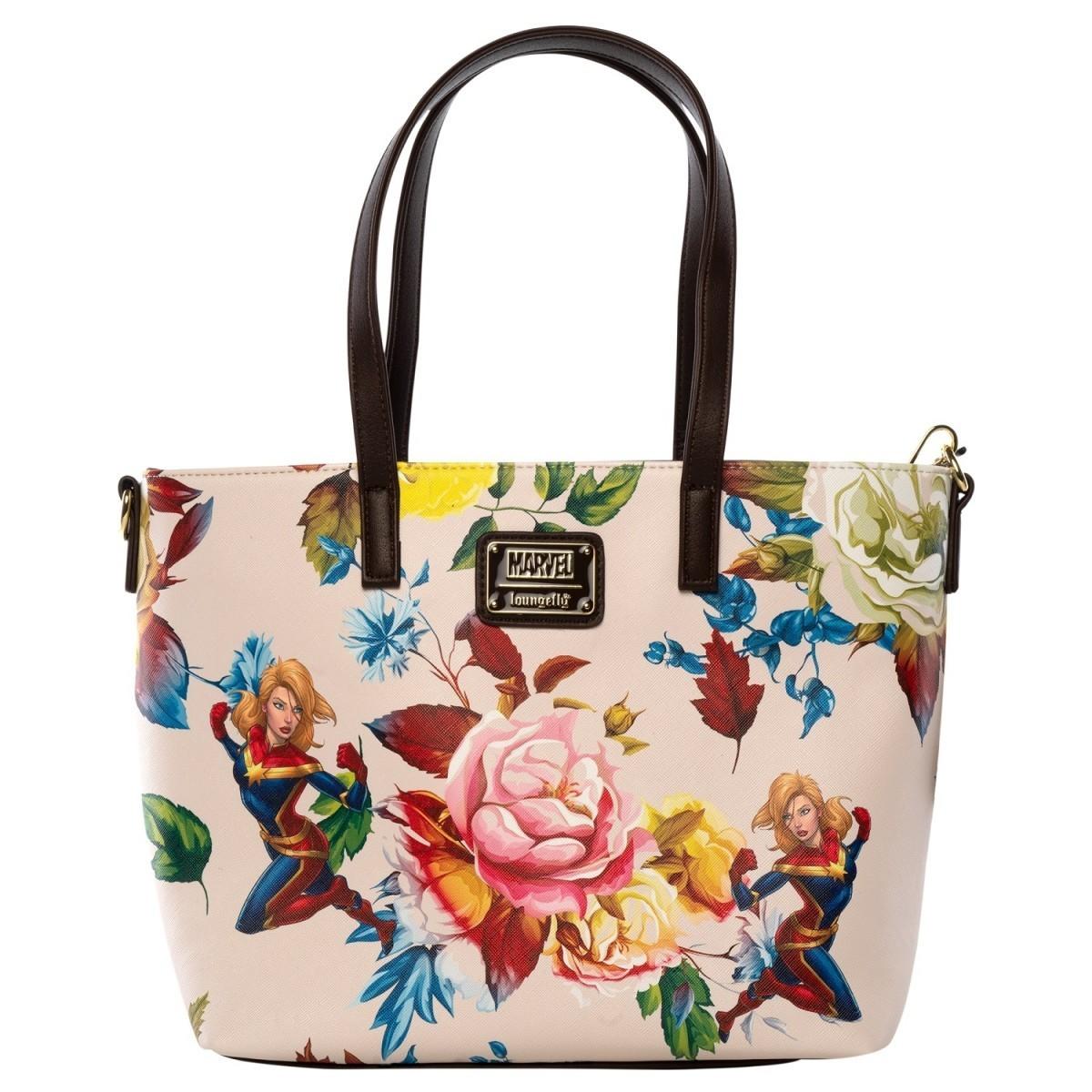 Bolsa Capitan Marvel Flores