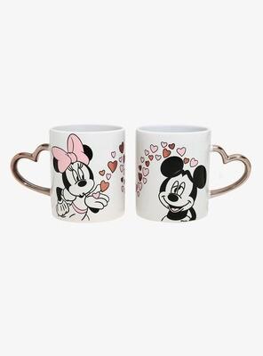 Set de Tazas Mickey Minnie Amor
