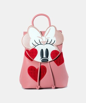 Bolsa Mochila Minnie Mouse Corazon X20
