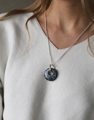 Tutti & Co Sculpt Necklace Silver