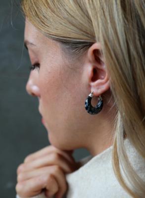 Tutti & Co Molten Earrings Silver