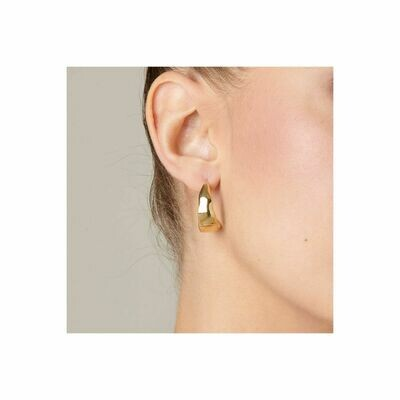 UNOde50 Braided Earrings Gold