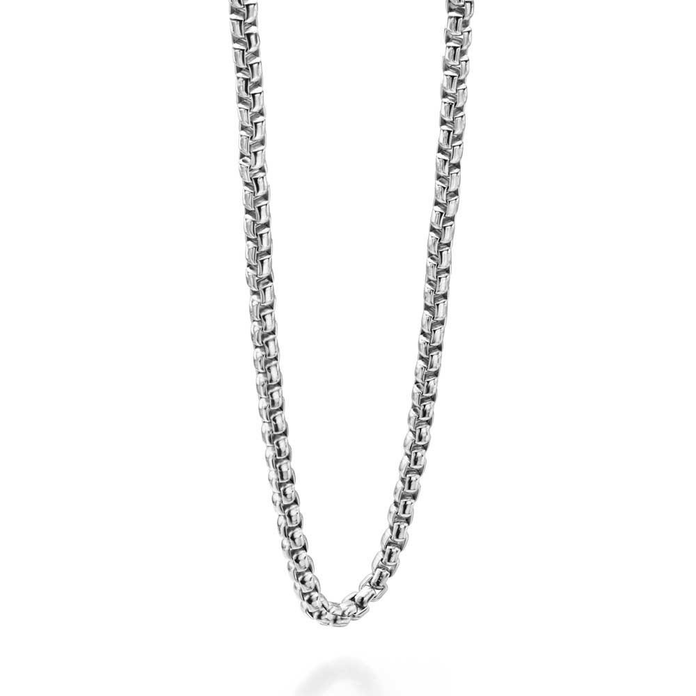 Fred Bennett Stainless Steel Diamond Cut Curb Necklace