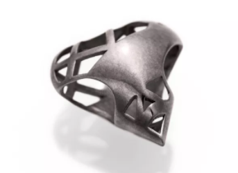 Bailey of Sheffield | Graphite Bold Heart Bead