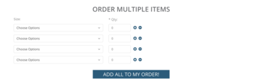 Quick Order - Product Page