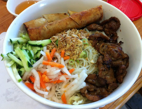 50. Egg Rolls, Grilled Pork & Noodles (Bun Cha Gio Thit Nuong)