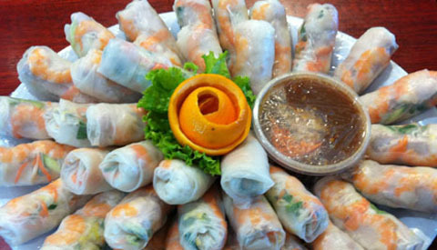 202B. Spring Roll, Shrimp or Shrimp & Pork (40 Rolls)