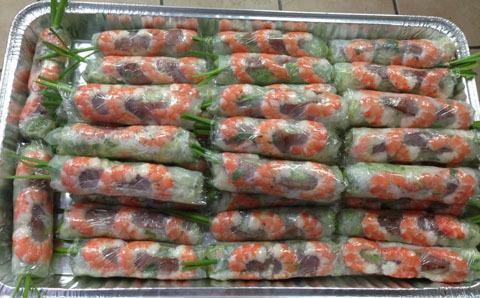 202C. Spring Roll, Shrimp or Shrimp & Pork (60 Rolls)