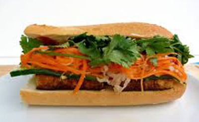 08. Veggie Tofu Sandwich LARGE (Banh Mi Tofu)