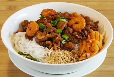 64.  Shrimp, Grilled Beef & Noodles (Bun Tom Bo Nuong)