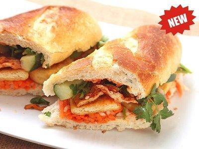09. Shirmp Paste Wrapped in Tofu Curd Skin Sandwich (Banh Mi Tau Hu Ki)