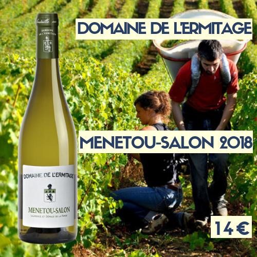 6 bouteilles du Domaine de l'Ermitage, Menetou-Salon blanc 2018  (14 €)