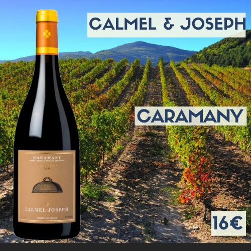 6 bouteilles de Calmel et Joseph, Caramany rouge Côtes du Roussillon Villages 2017 (16€)