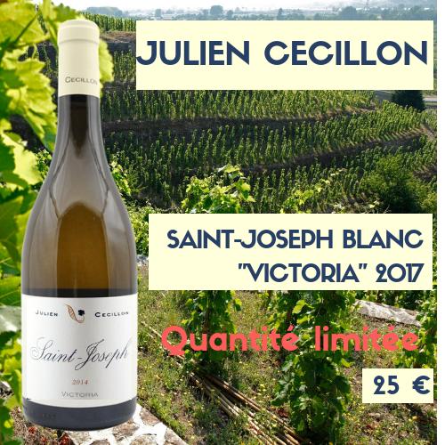 """1 bouteilles Saint-Joseph 2018 """"Victoria""""  blanc de Julien Cécillon  (25€)"""