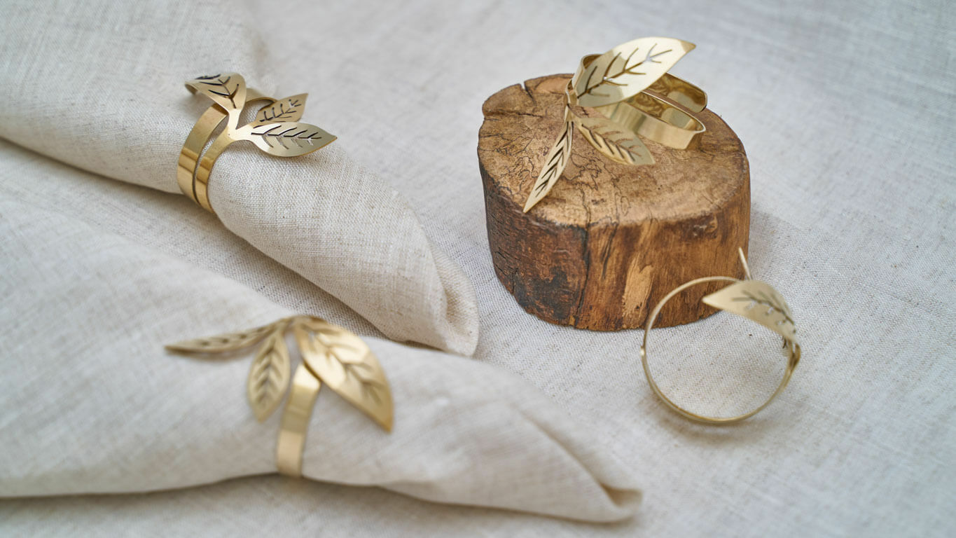 "Napkin ring ""Tea Leaf"""