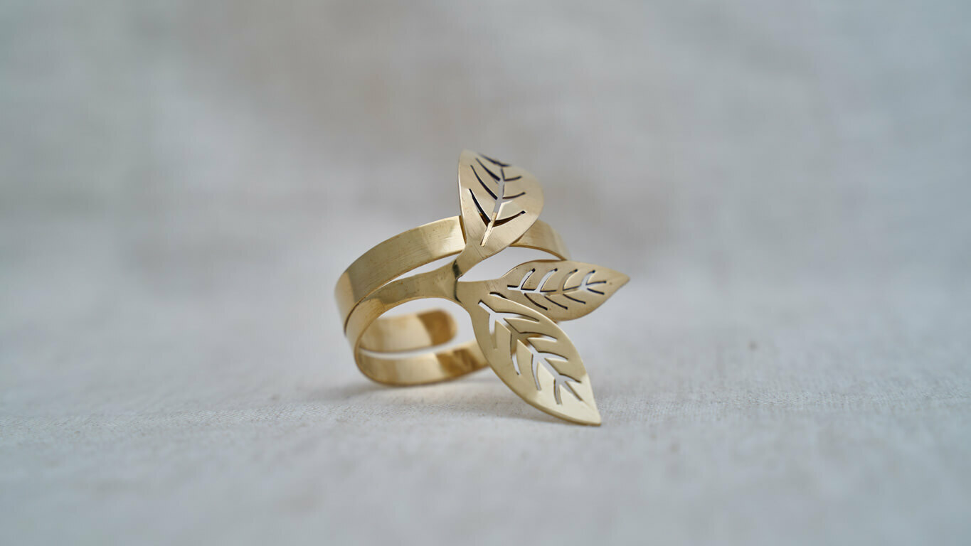 "Napkin ring ""Tea Leaf"" XR45TS"