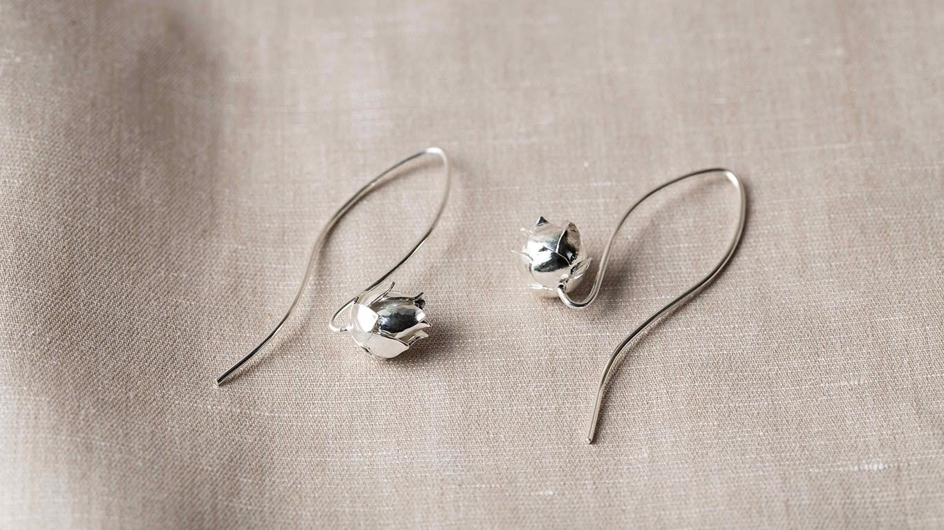"Earrings ""Little Lotus"" RO50TS"