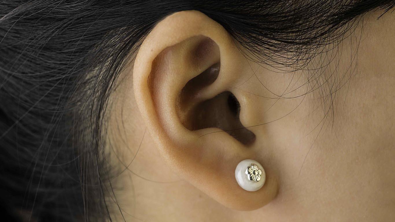 Marble silver earrings 1