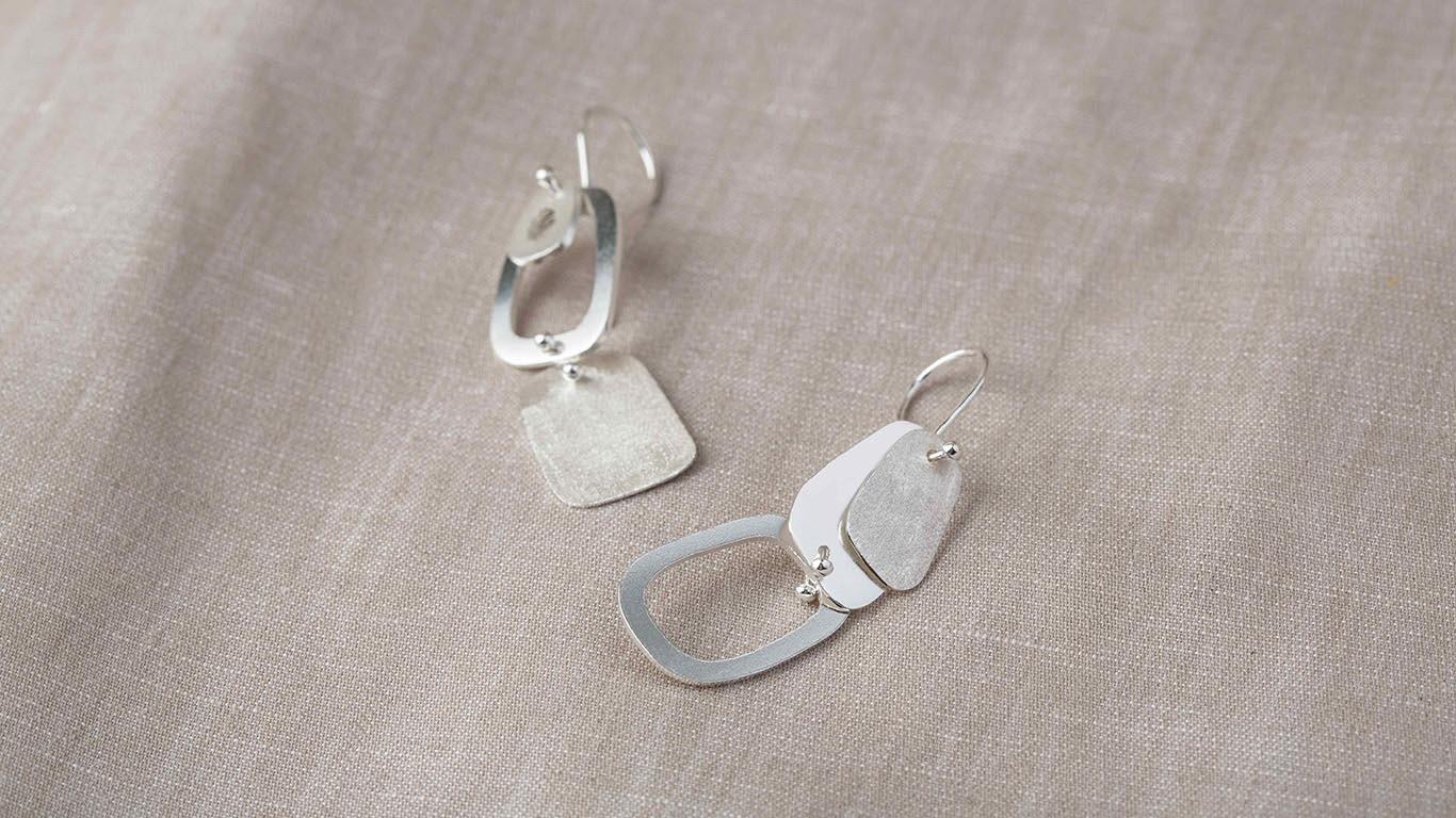 """Earrings """"Ovals"""" RO27TS"""