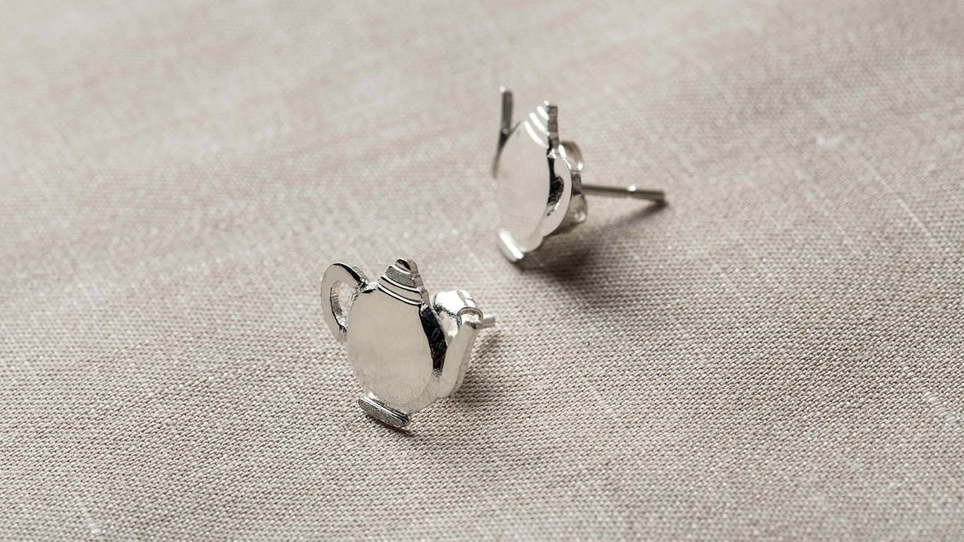 """Earrings """"Little Teapot"""" RO35TS"""
