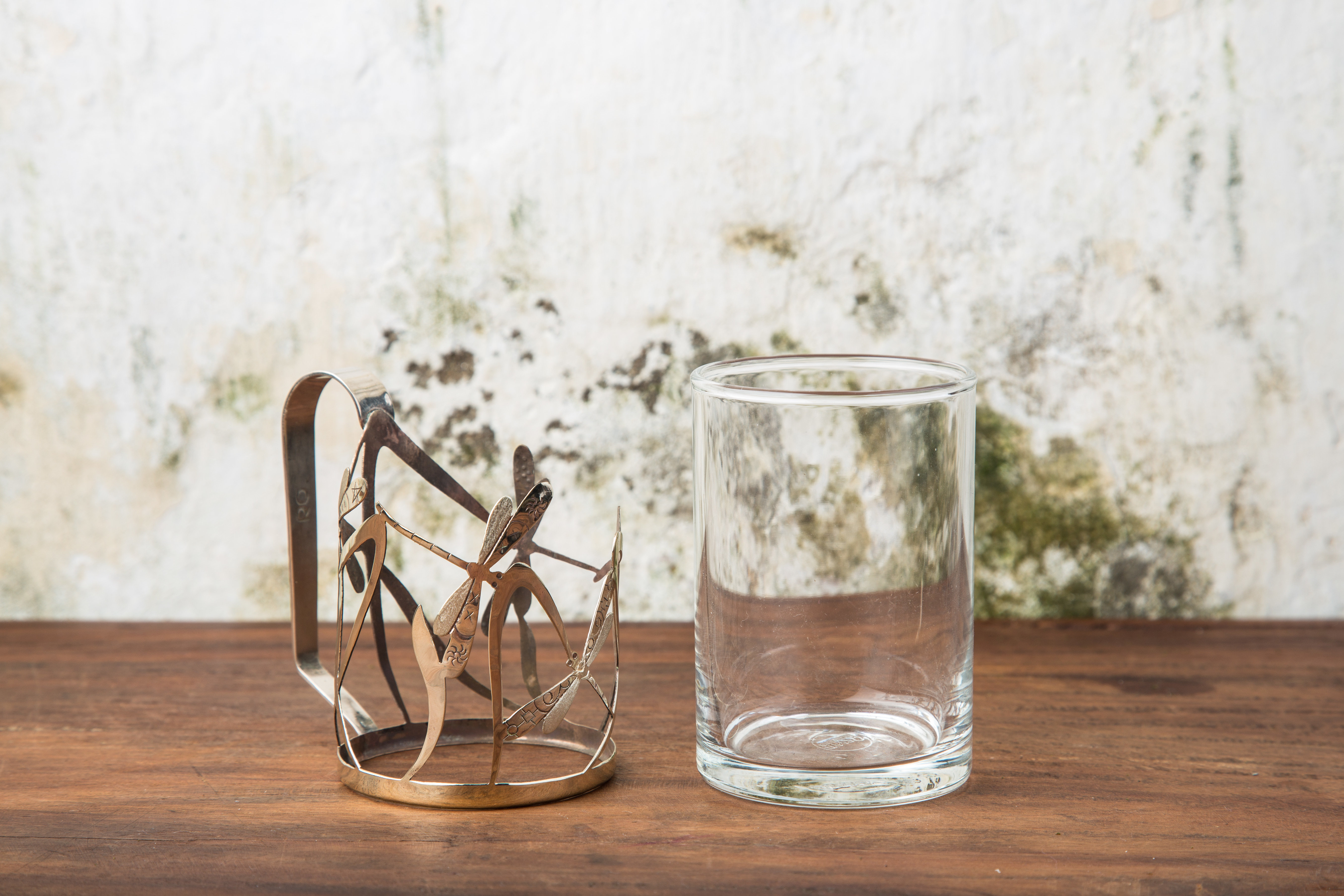 Bronze dragon fly cup holder 2