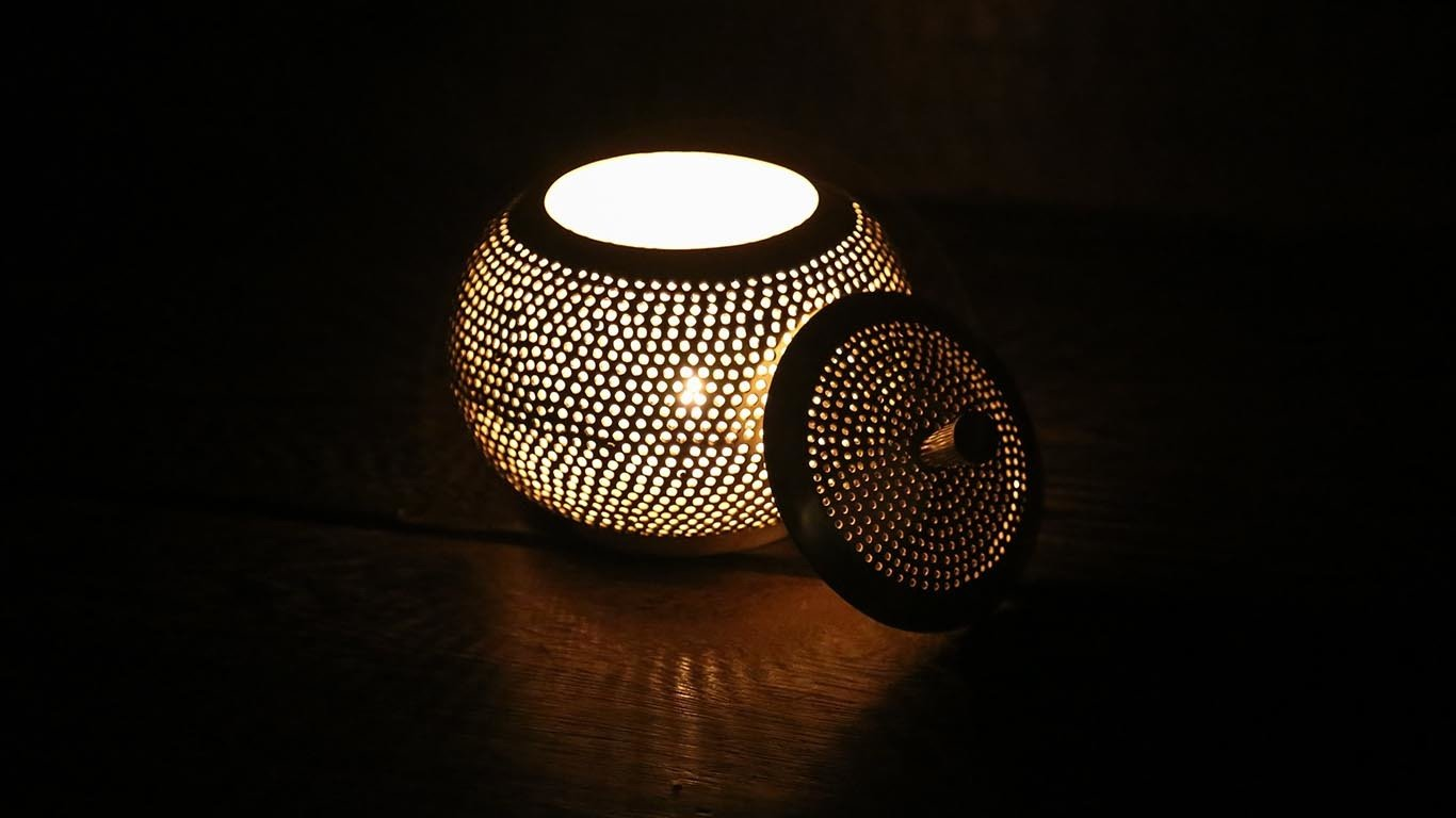Pumpkin Plated silver candle holder