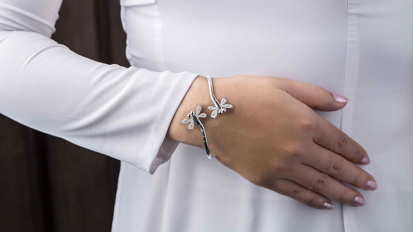 """Bracelet """"Silver Dragonfly"""" MN11TS"""