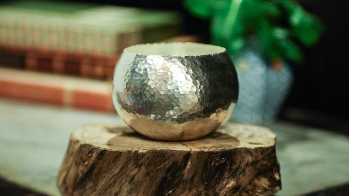 "Candle holder ""Hammered Surface"""