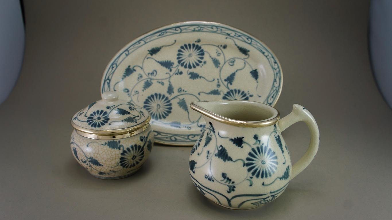 "Milk & Sugar Set ""Blooming Daisies"""