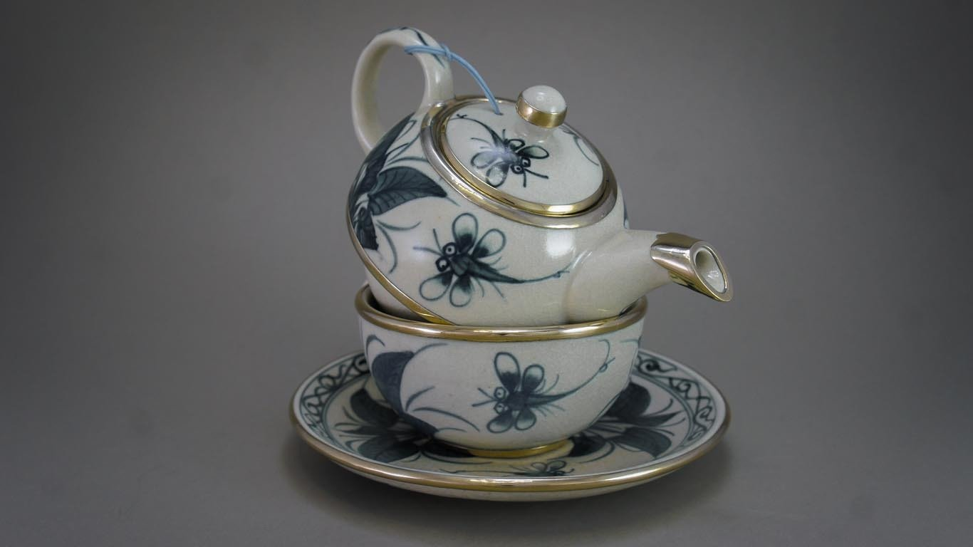 "Tea-for-One Set ""Dragonflies"" AV1TCHR"
