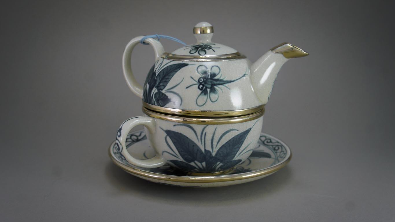 "Tea-for-One Set ""Dragonflies"""