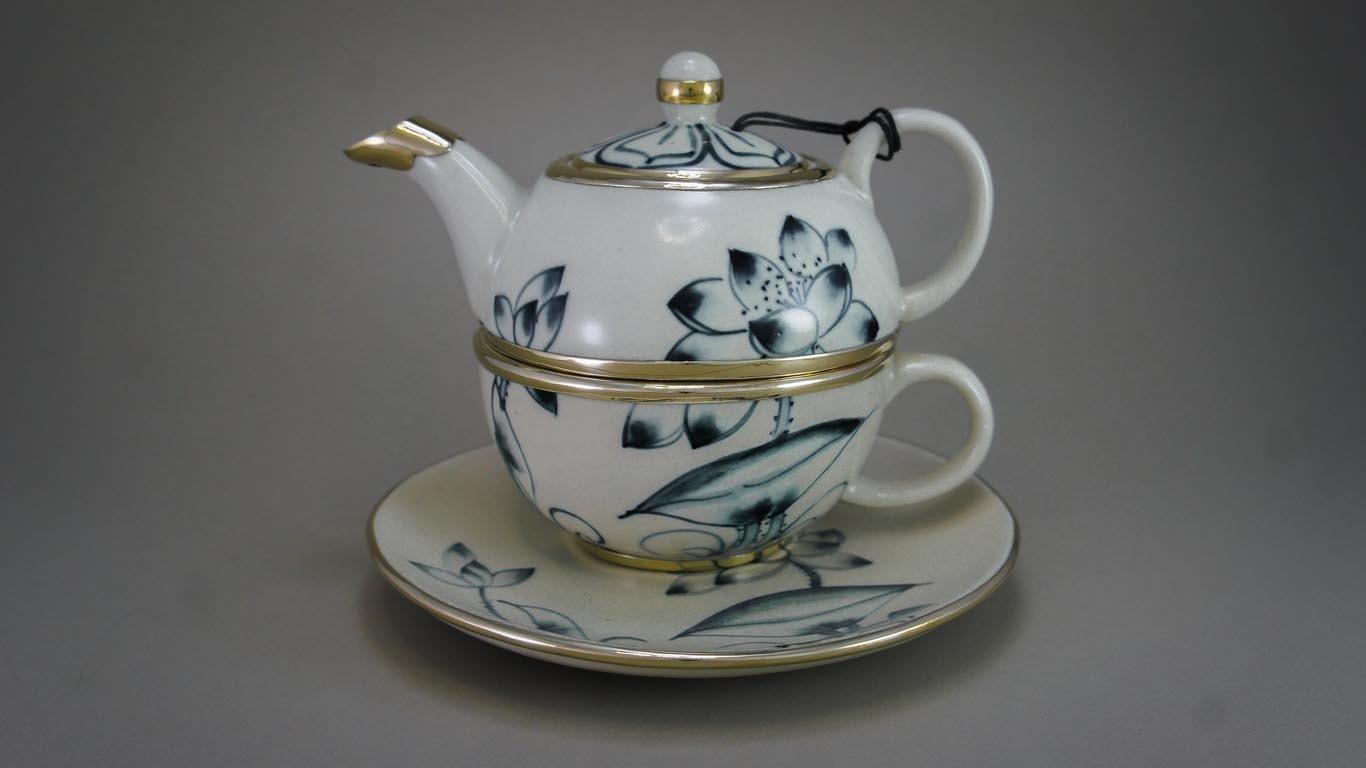 """Tea-for-One Set """"Lotusflower"""" AV1TSCR"""