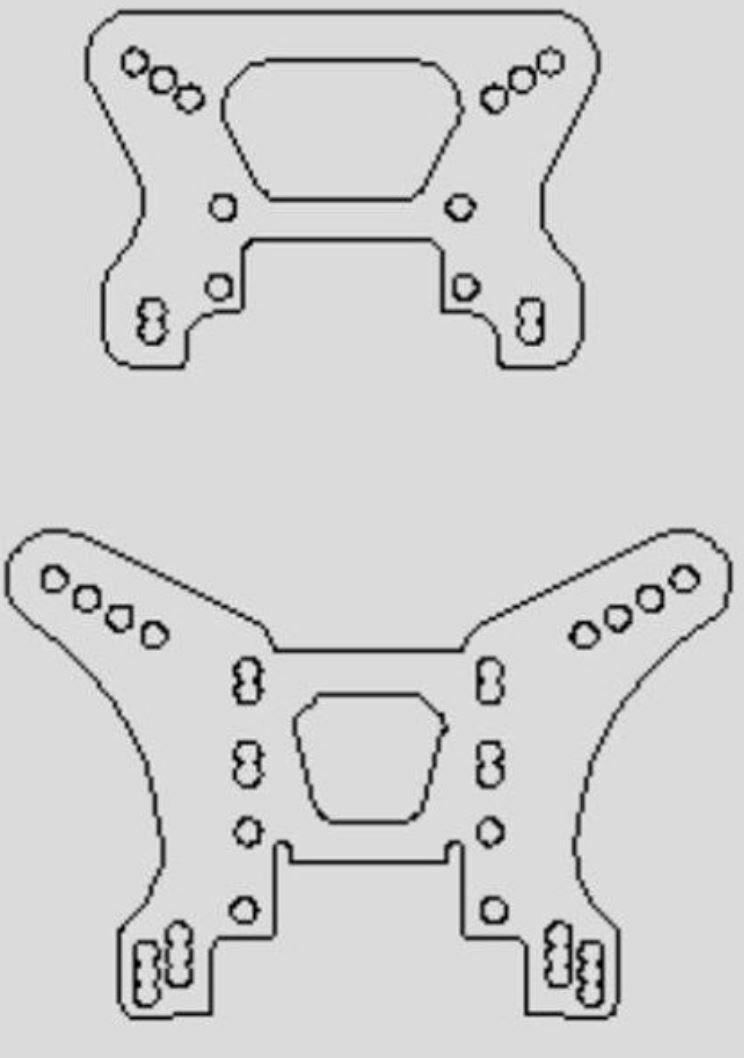 Xray - XB4  Buggy Kevlar Shock Tower Set