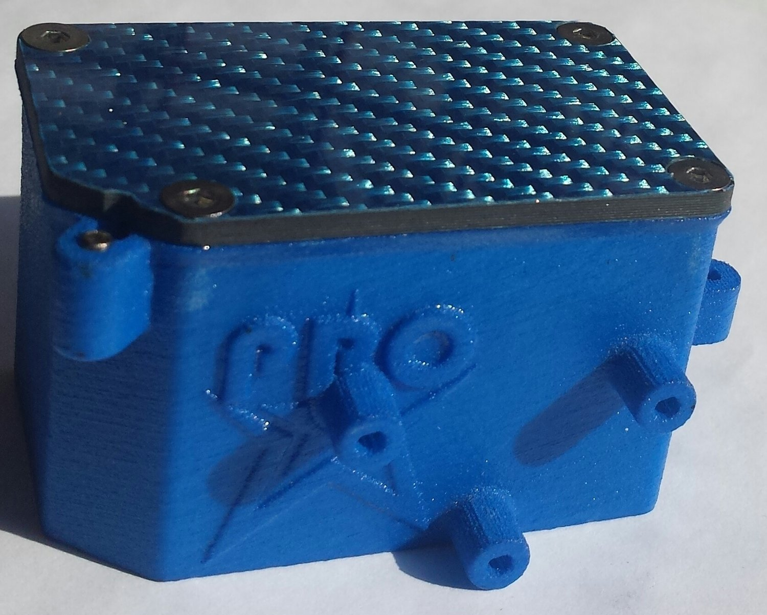 "RC8B3 Rubber Sealed Reciever Box W/Transponder Mount   ""Tall"""