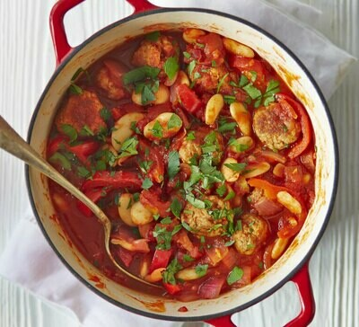 (M) Bean Stew w/ Mashed Potato