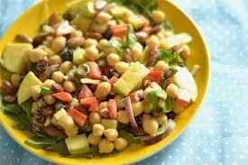 (L) Curried Chickpea Apple Salad