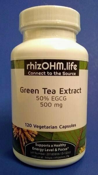 Green Tea Extract Powder 120 x 500 mg Veggie Caps
