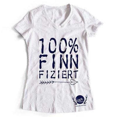 100% finnfiziert Finnland T-Shirt (Damen)