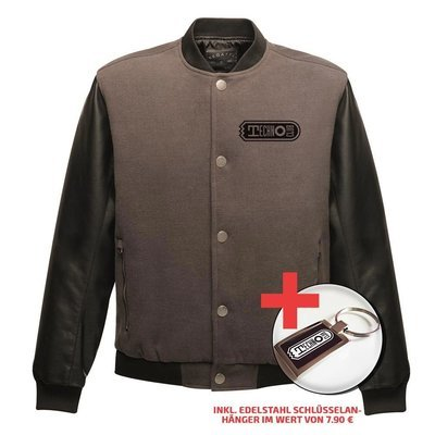 Two-Tone Technoclub Jacket (Men) + Edelstahl Schlüsselanhänger