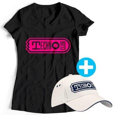 Technoclub T-Shirt + Basecap (Women)