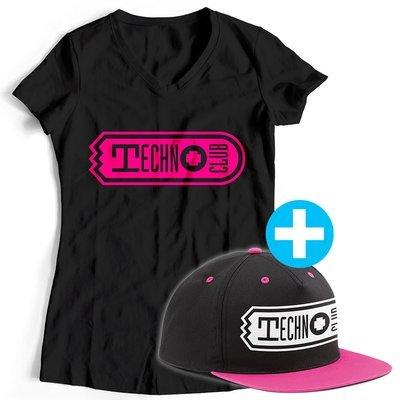 Technoclub T-Shirt + Snapback (Women)