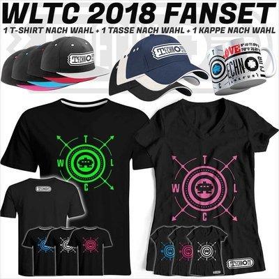 We love Technoclub 2018 Fanset (T-Shirt, Kappe & Tasse)