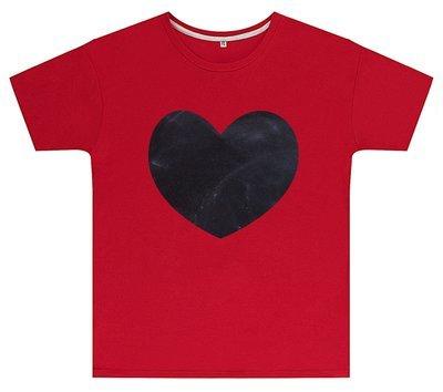 Kreideshirt mit Herz-Motiv inkl. 12er-Pack Kreide