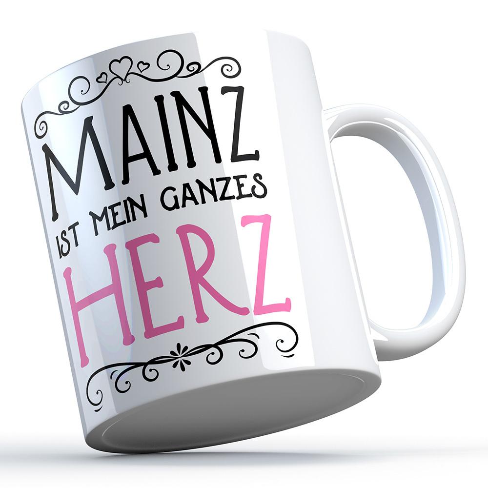 """""""Mainz ist mein ganzes Herz"""" Keramiktasse 91975"""