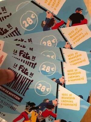 Billet/Code PASS 3 jours FÊTE DE L'HUMANITÉ  (13-14-15 septembre 2019) : Soprano + Aya Nakamura + L'Or Du Commun + Youssou n'Dour + Shaka Ponk + Miossec + Les Négresses Vertes + Eddy De Pretto + etc.